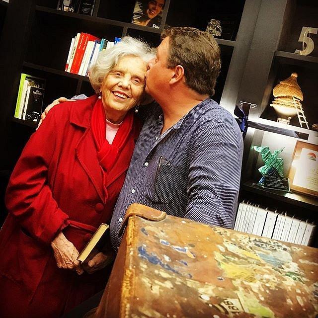 El beso de los Poniatowski. Elena y Felipe en la Fundación.